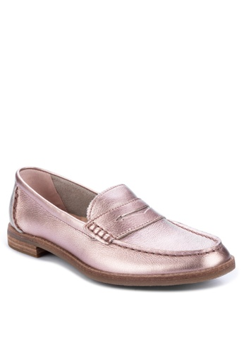 Sperry gold Seaport Penny Loafers CED00SH889A2A9GS_1