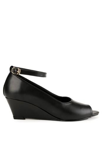 Shoecrime black Arabella Ankle Strap Wedges 2585ASHC90CD73GS_1