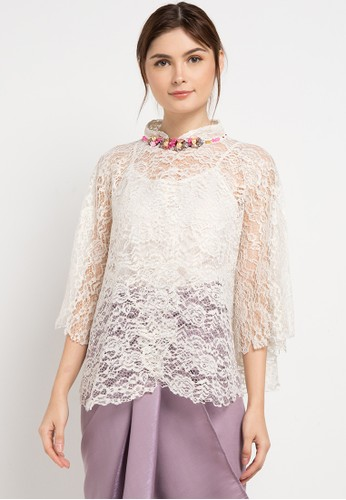 LUIRE by Raden Sirait white and multi Cape Shanghai 02647AA3AC0ECFGS_1
