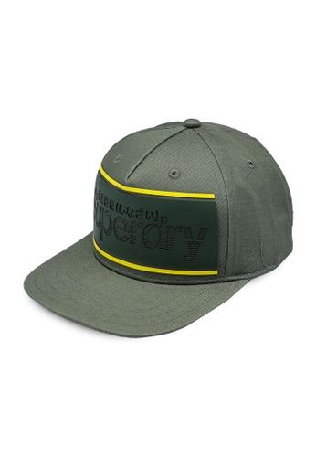 SUPERDRY green Stripe Logo Trucker Cap E8221ACC0DDA28GS_1