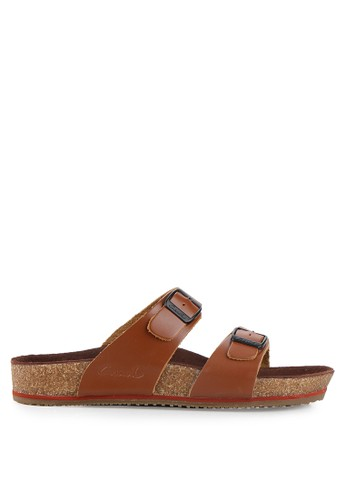 CARVIL brown Mens Sandal Footbed Roland-02M CA566SH10PIZID_1