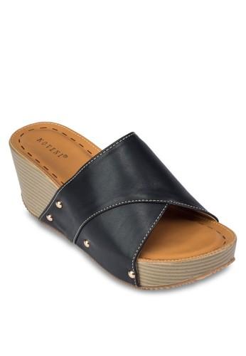 寬帶楔型跟涼鞋, 女鞋zalora 手錶, 楔形涼鞋
