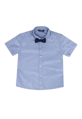LC Waikiki navy Twill Shirt With Bowtie AE0FCKA6222AD2GS_1