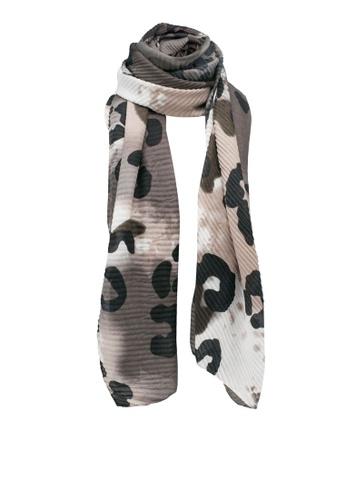 Dorothy Perkins multi Leopard Tie Dye Plisse Scarf B9A31AC4DB93D9GS_1