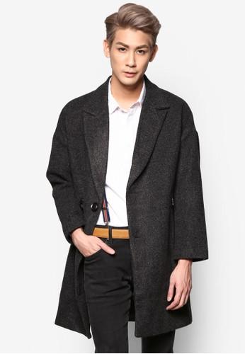 雙鈕翻領長版外套, 服esprit outlet尖沙咀飾, 外套