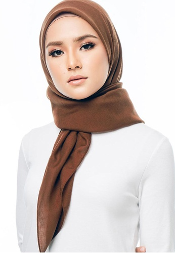 Imaan Boutique brown Cotton Square Scarf Toffee 97AF7AA1D955EDGS_1