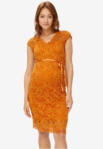 Mama.licious brown Maternity New Mivana Cap Jersey Dress 22A89AA213A326GS_1