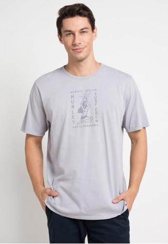 hurley grey Hvy Sundown T-Shirt 991A7AAE97CA56GS_1