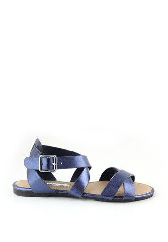 London Rag navy Farra Flat Sandals E9220SHEA04541GS_1