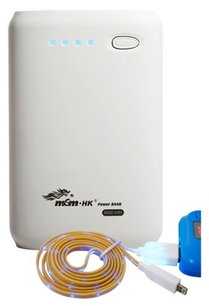 MSM HK Powerbank 8400mAh With FREE Bavin 1m LED USB Cable for iPhone5/5S and iPhone6