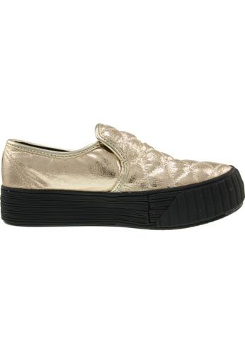 Maxstar / Maxstar Women's C30 Stitched PU Platform Slip On Shoes US Women Size / Gold