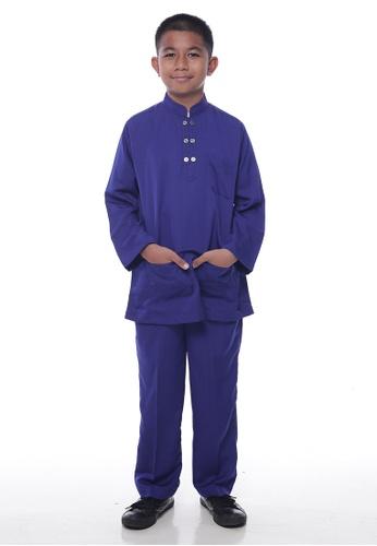 Denai Boutique blue Baju Melayu Ziyyad D36C2KA559430AGS_1