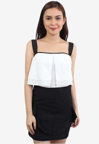 f92a9fe857f92 Shop OOTD Classical Match Straps Layered Top With Short Skirt Online on  ZALORA Philippines