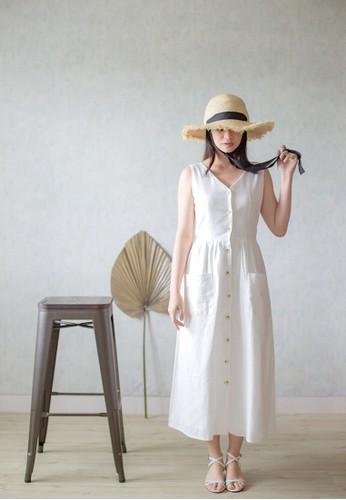 Simplify white Leia Dress White 57B57AA1D0EF4DGS_1