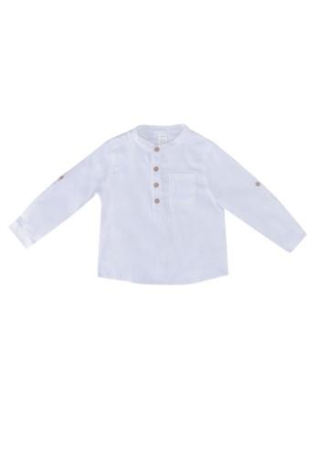 LC Waikiki white Baby Boy's Gabardine Shirt 5A33EKA9C2AF51GS_1