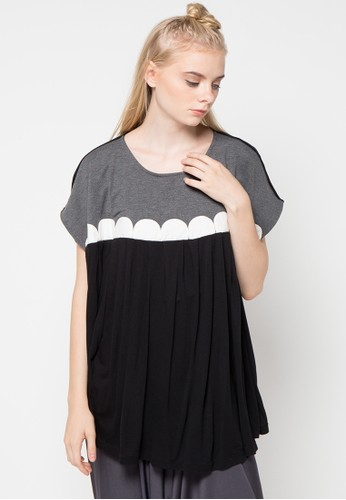 MONDAY TO SUNDAY black and grey Bonnie Top MO145AA86USFID_1