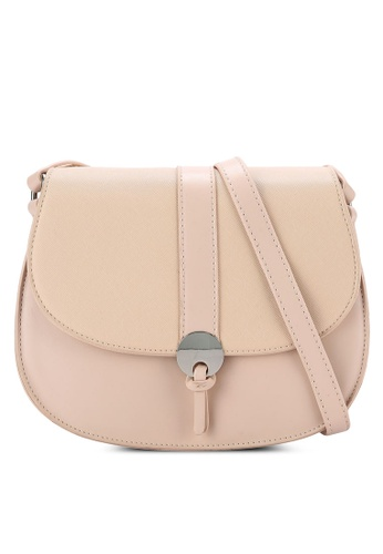Nose beige Duo Tone Crossbody Bag NO327AC0RCA8MY_1