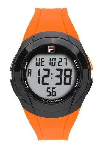FILA Watches orange Fila Digital Black and Orange Rubber Watch 66DA9AC725F739GS_1
