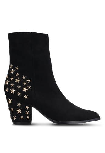 Something Borrowed black Star Studded Suede Boots 3CACFZZ08FF962GS_1