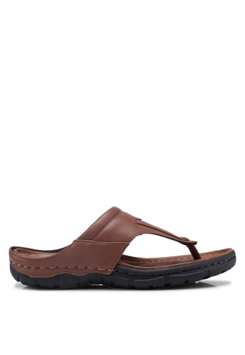 Bata 褐色 Slide-On Sandals 6CD92SH9527018GS_1