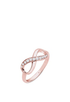 123654ea3 Elli Germany pink Elli Germany Ring Ring Sterling Silver Rosegold-Plated  Infinity Zirconia 1F396ACE20687EGS_1