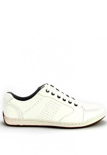Cardam's Lifestyle white Racer Lace-Up Sneakers CA993SH08AODPH_1