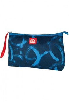 Circle Brush Strokes Royal Blue Lunch Clutch