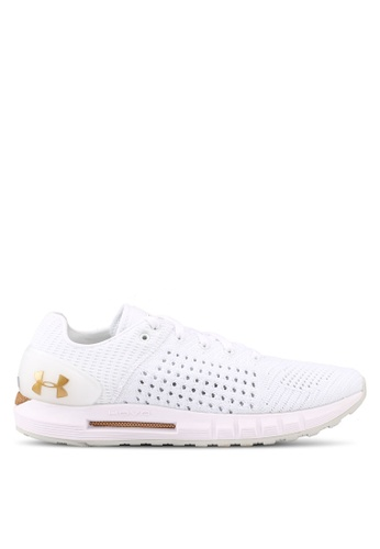 Under Armour white and gold UA W Hovr Sonic NC Shoes UN337SH0SUAEMY_1