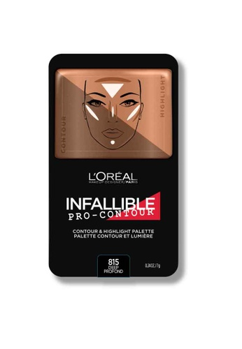 L'Oréal Paris beige L'Oreal Make Up Designer Infallible Pro-Contour Palette Deep Profond LO618BE0RVU3MY_1