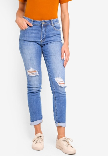 Forever New blue Emmy Mid Rise Girlfriend Jeans 85707AADF9DFECGS_1
