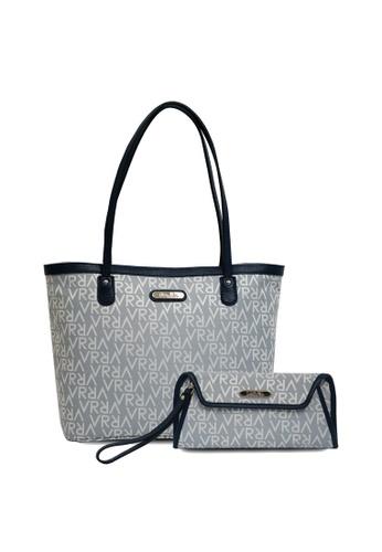 5f851a792665a Valentino Rudy blue Valentino Rudy Signature Canvas Tote Bag with Clutch Bag  B9825ACB8CD498GS 1