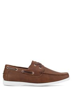 【ZALORA】 啞光仿皮革船型鞋