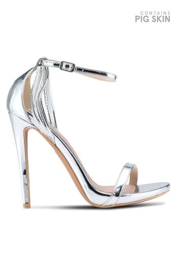 LOST INK silver Lara Stiletto Sandals 8ACCASH49815E5GS_1
