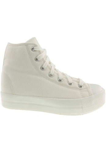 Maxstar white Maxstar N30 Solid Color High-Top Canvas Sneakers Shoes MA164SH29CBISG_1