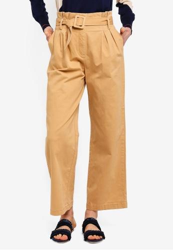 ESPRIT brown Denim Length Service Pants 5230CAAF035016GS_1