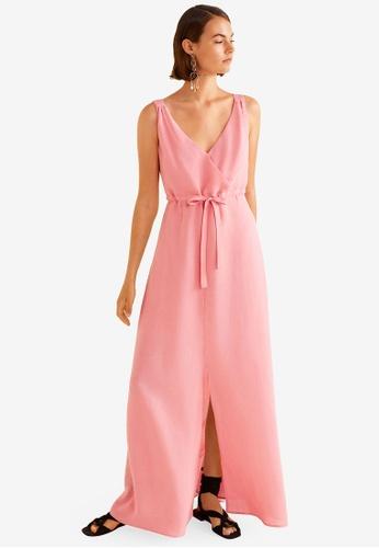 ce55156fe4 Buy Mango Linen-Blend Long Dress