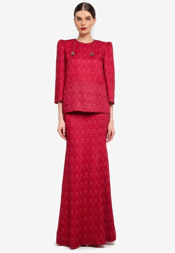 Rizalman for Zalora red Kedah Pocket Kurung RI909AA0SF1FMY_1