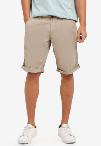 ESPRIT beige Woven Regular Shorts 1C2C9AA0C12E73GS_1