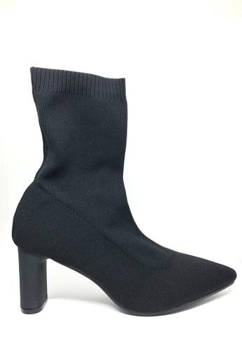 Twenty Eight Shoes 黑色 飛織中踭短靴6619-2 44AACSHAA626F5GS_1