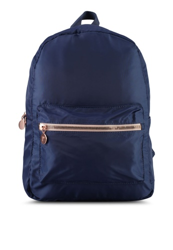 Rubi blue and gold Traveller Backpack 7C6E5ACDA7AFD5GS_1