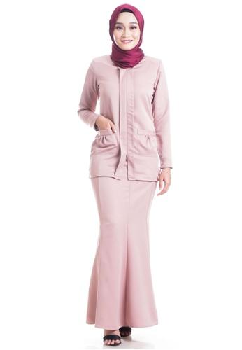 Ashura pink Roslaily Kebaya With Ruched Pocket 63CFFAA792BDAEGS_1