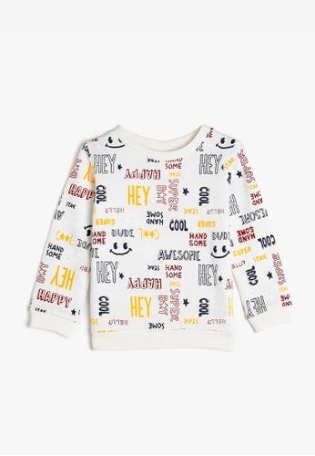 KOTON white Casual Sweatshirt BF03BKA828F152GS_1