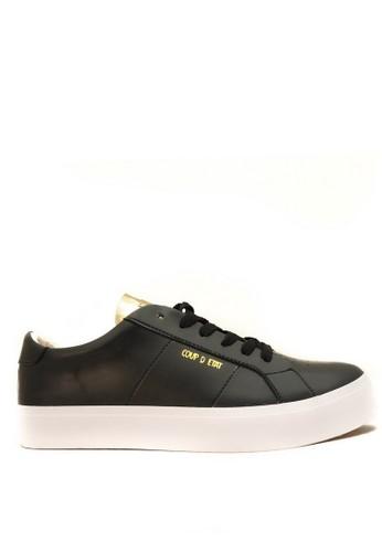 CDE black CDE Walter Men Sneaker Black/Gold (Zalora Sepatu Pria Sneakers Hitam/Emas) CB22ESHF034C2CGS_1