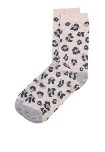 Dorothy Perkins grey Grey Leopard Socks 02466AA231430CGS_1