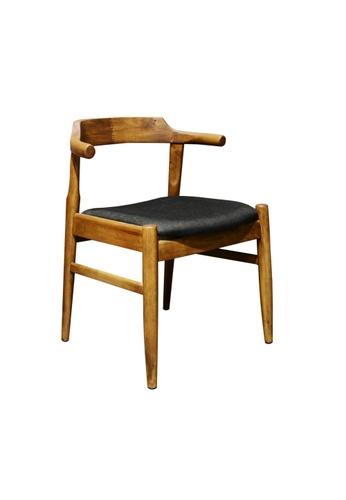Chic Establishment black and brown Batabia Chair 4F315HL0E50DE9GS_1