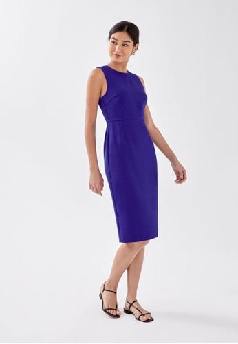 Love, Bonito blue Kierra Pencil Midi Dress 92E5BAA3F4C5C2GS_1