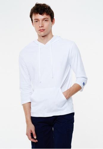 Life8 white Cotton Three-Quarter Hoodie-03955-White LI283AA0GOQ4SG_1