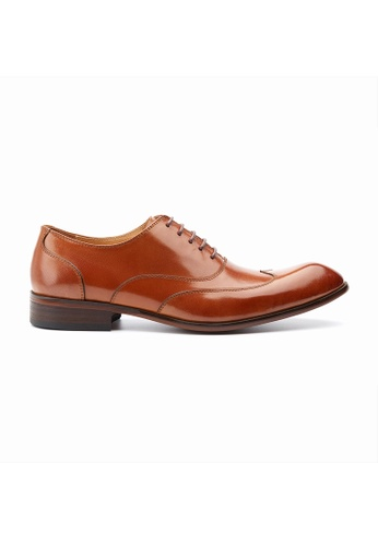 Kings Collection brown Hundley Brogue Lace Up Shoes B09B9SH3209CC8GS_1