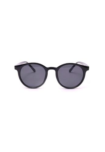 Kyfer's Eyewear & Essentials black Vintage Round Sunglasses KY376AC0GDV1SG_1