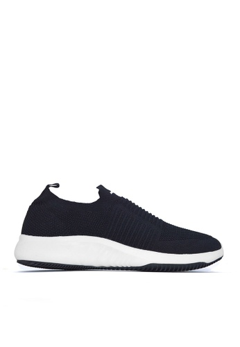 ACCEL black and white PaulMan Lo Sports Lifestyle Shoes 774A1SHFE350DBGS_1